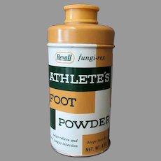 Vintage Rexall Fungi-Rex Athlete's Foot Powder Medical Advertising Tin