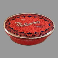 Vintage Brandle & Smith Mellomint Candy Tin - Small 10c Size