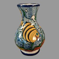 Colorful Pottery Vase with Whimsical Underwater Fish Scene – Pinal H. Mexico