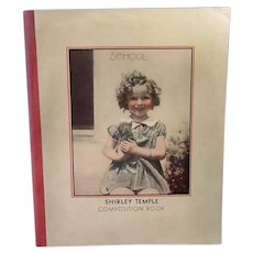 Vintage Shirley Temple Composition Book – Little Shirley with Kitten