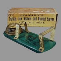 Vintage Houchin's Princess Alcohol Curling Iron Heater with Original Box - 1800's