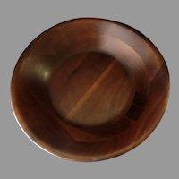 "Vintage 12"" Wood Serving Bowl – Ozark Treasures Missouri Label"