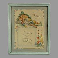 Framed Vintage Motto Print Love to Mother Poem