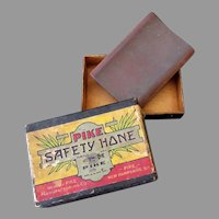 Vintage Pike Safety Hone for Razor Blade Sharpening - Original Box