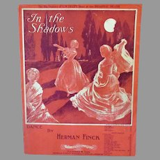 Vintage Sheet Music – In the Shadows - 1910