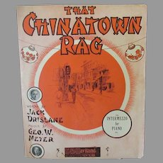 Vintage Sheet Music – 1910 That Chinatown Rag