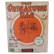 Vintage Sheet Music – 1910 That Chinatown Rag