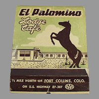 Over Sized Vintage Advertising Match Book - Large El Palomino Lodge Matchbook