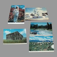 Five Vintage 1970's Souvenir Postcards from Idaho