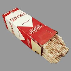 Large Box of Giant Vintage Paper Straws with Fincher's Advertising
