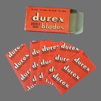 Vintage Razor Blades- Durex Double Edge Razor Blades in Original Box