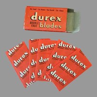 Vintage Razor Blades- Durex Double Edge Razor Blades in Original Box