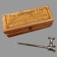 Antique Lawrence Tap for Champagne and Other Effervescent Drinks - 1876 Patent