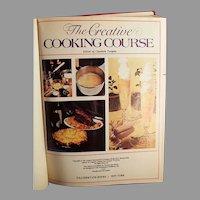 Vintage 1975 Creative Cooking Course Recipe Book - Creative Homemaker's Academy Hardback Cook Book