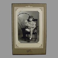 Vintage Photograph - Little Girl with Her Old Teddy Bear