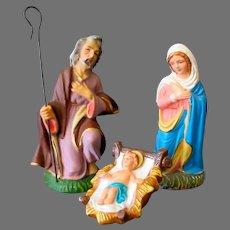 Three Vintage 1950's Nativity Scene Pieces – Joseph, Mary and Baby Jesus - Japan