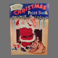 Vintage Christmas Coloring/Paint Book –  Santa Claus and Other Fun Christmas Images