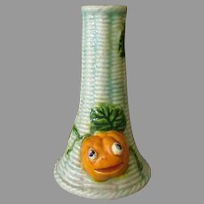 Vintage Halloween Novelty – Ceramic Vase with Funny Pumpkin J-O-L