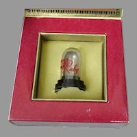 Vintage Phonograph Needle Ruby Gem with Original Packaging