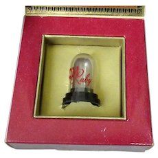 Vintage Phonograph Needle Ruby Gem with Original Packaging