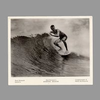 Vintage 1960's Surfing Photograph - Paul Strauch, Bud Browne's Spinning Boards, Hobie Surfboards