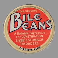 Vintage Biles Beans Laxative Twists Tin - Old Medicine Advertising