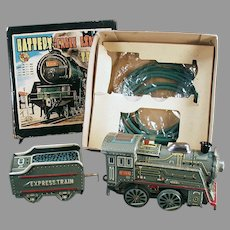 Vintage B.O. Express Train Set - Battery Cable Toy Train with Original Box
