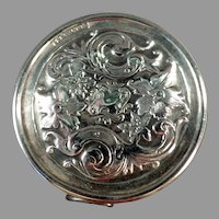Vintage Elaborate Sterling Silver Tape Measure with Floral Design