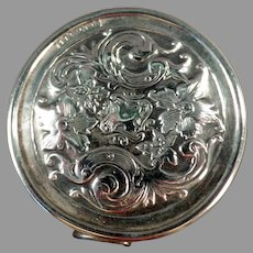 Vintage Elaborate Sterling Silver Tape Measure with Floral Design