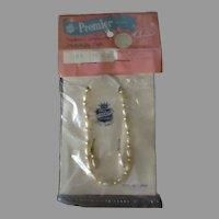 Vintage Doll Jewelry - Premier Faux Pearl Necklace & Dangle Earrings - Original Packaging