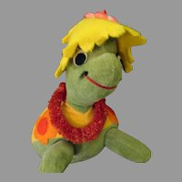 Vintage Stuffed Turtle Toy - Dakin Dream Pet  #353 Honolulu Harry
