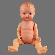 """Vintage 9"""" Celluloid Baby Doll - 23 1/2 Minerva, Buschow & Beck Germany"""
