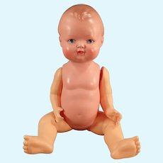 "Vintage 9"" Celluloid Baby Doll - 23 1/2 Minerva, Buschow & Beck Germany"