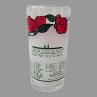 Vintage 1986 Kentucky Derby - Churchill Downs Run for the Roses Advertising Glass