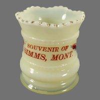 Vintage EAPG Heisey Custard Glassware - Toothpick Montana Souvenir