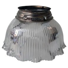 Vintage Holophane Style Light Shade for a Gas Light Fixture – 1910