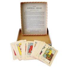 Vintage Milton Bradley – The Game of Animal Grab with Original Box