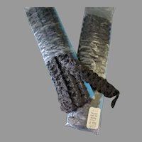 Two Packages of Vintage Fake Fur Galloon Edging – Brown, About 4 Yards Total