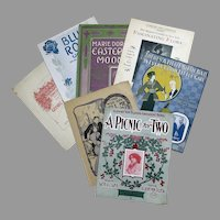 Seven Pieces of Vintage Sheet Music – 7 Different Songs