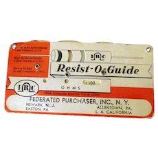 Vintage Resist-O-Guide Gauge Resistor Values – RMA Standard Color Code