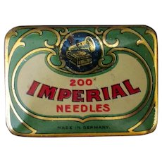 Vintage Imperial Phonograph Needle Tin Made in Germany - Colorful Graphics