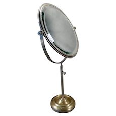 Vintage Vanity or Shaving Mirror - Beveled Mirror that Swivels on  Adjustable Stand