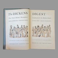 Vintage Hardbound Book – The Dickens Digest – Four Stories by Charles Dickens