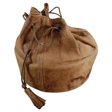 Vintage Collar Case Bag, Leather with Drawstring for Men's Starched Collars