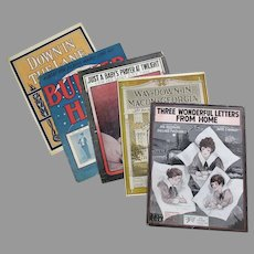 Five Vintage Sheet Music – 5 Different Songs, Some Related to War II