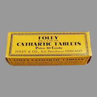 Vintage Foley Cathartic Laxative Tablets Medicine - Empty Box