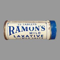 Vintage Medicine Tin - Small Ramon's Little Doctor Laxative Tin