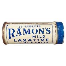 Vintage Medicine Tin - Small Ramon's Little Doctor Laxative Tin
