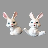 Vintage White Bone China Bunny Rabbit Figurines – Taiwan