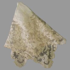 Delicate Vintage Lace Hankie – Probably Wedding Handkerchief